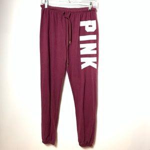 Pink Victoria's Secret sweatpants zip ankle xs